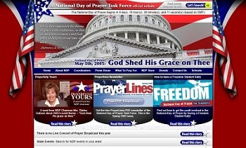 Ricky Romero's design for the 2005 National Day of Prayer website