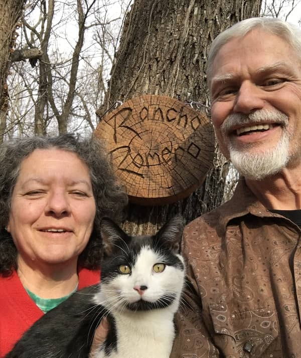 Connie and Artie's 2017 Christmas card selfie