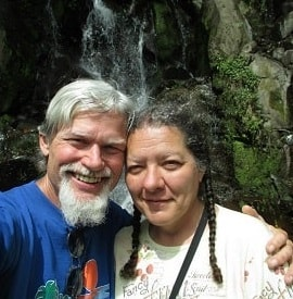 Connie and Artie at Baja Mono waterfall in 2013, click for more